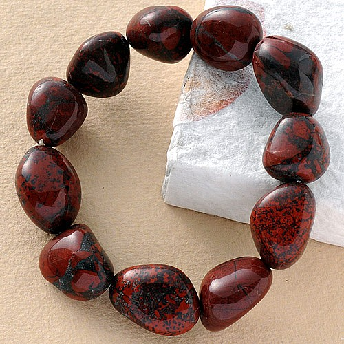 Jasper red bracelet 3 pieces