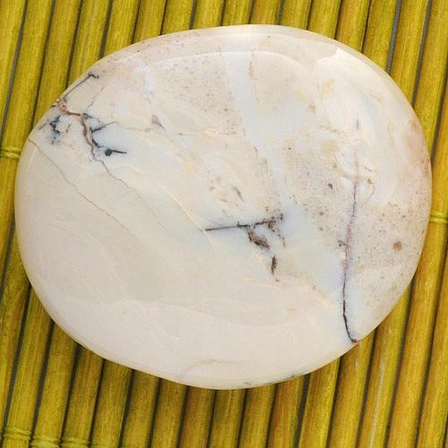 Dentrite Opal (Agate) Yellow flat semi-precious stone