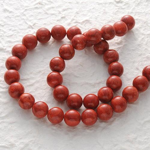 Edelstein-Perlen, Koralle, Kugel glanz 10 mm