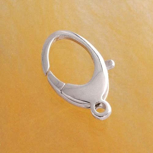 Karabiner, oval, Verschluss Silber 925, 11 x 23 mm groß