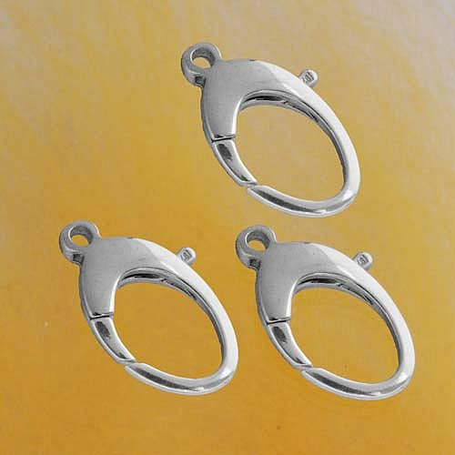 Oval Snap Hook, Silver, Large 23mm, 3 x