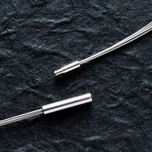 Halsreif Edelstahl / Stahl 45cm 2.2mm 4-reihig