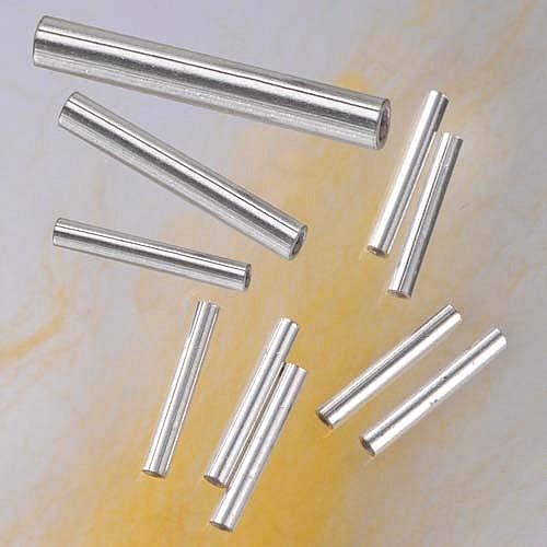 Silber-Röhrchen, 15 x 2 mm, 925er Silber, 10 Stück