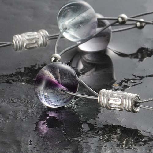 Silber-Röhrchen, Ornament, 10 mm, 925er Silber, 10 Stück