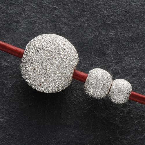 12mm Großlochperle Silberperle diamantiert sehr groß