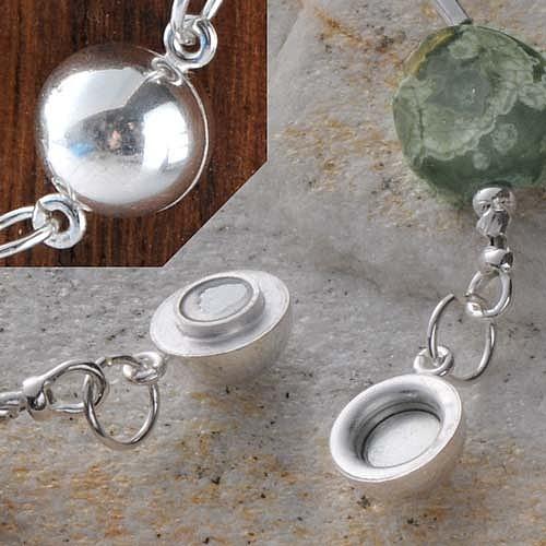 Magnetverschluß Kugel Sicherheit 10 mm Silber 925