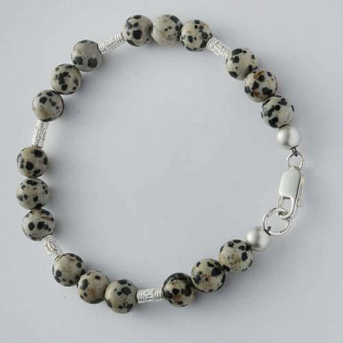Kaschierperle Silberperle 6 mm, mattiert Silber 925 Perle satiniert seidenmatt