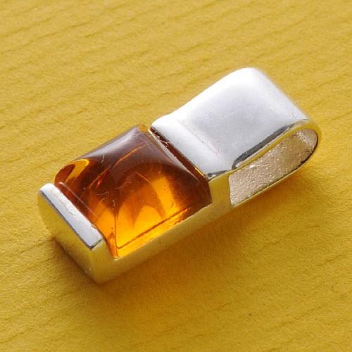 Amber- Silver Pendant Mini