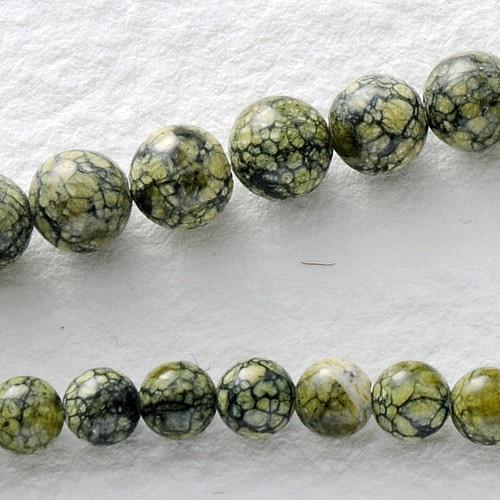 Schlangenhaut Jaspis Perlen Kugel 6 mm