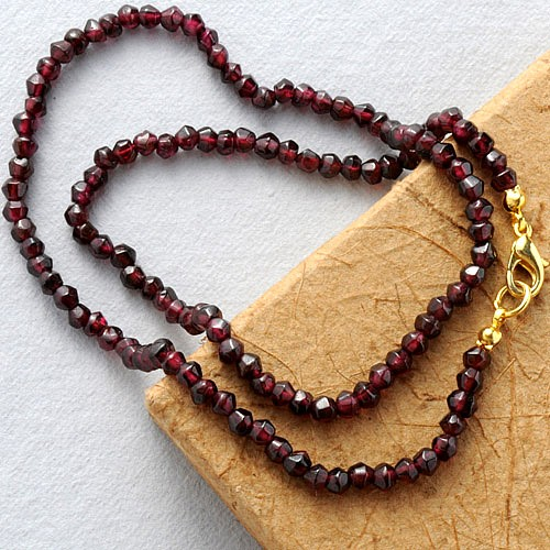 Granat Halskette Körnchen