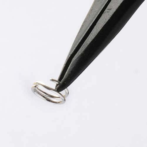 Splitring 5 mm Silber 925 als Schmuck Zubehör Teil