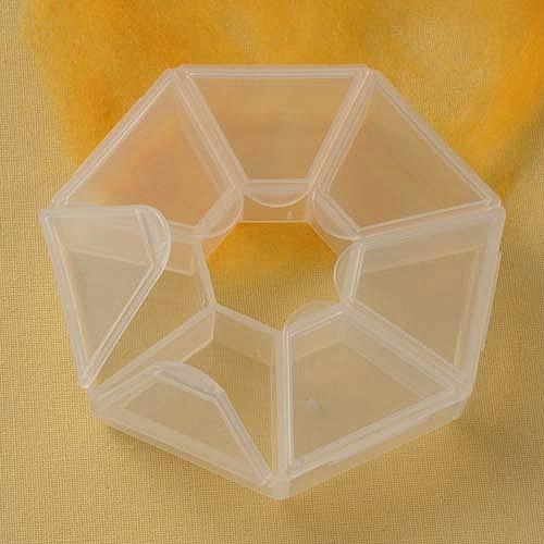 Kleine Perlenbox 80mm 7 Fächer einzeln zu öffnen