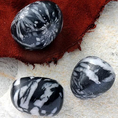 Porphyrite tumbled stones 3 pieces