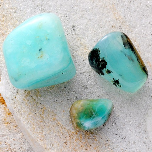 Opal blau Trommelsteine 50g