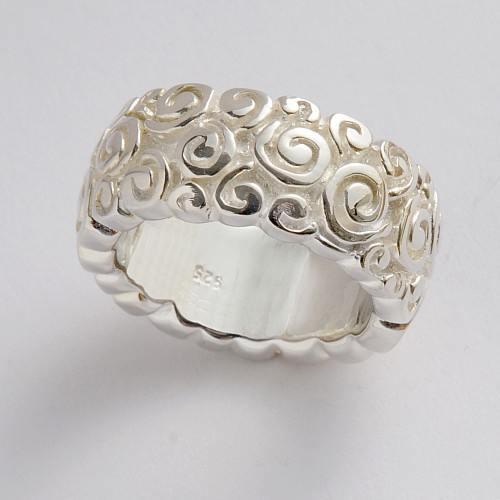Silver Ring Coils