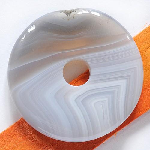 Achat Natur Donut AA-Qualität Achatanhänger Scheibe 40mm