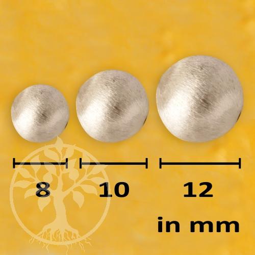 Silver Bead brushed handmade 16mm 925