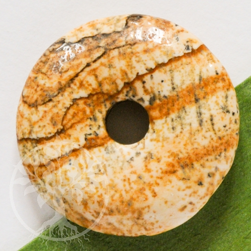 Landschafts-Jaspis Donut A 40mm