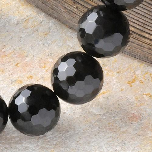 Obsidian Perle facettierte Einzelperle