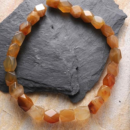 Carneol Perlen Quader Facettiert A Karneol Perlen 16mm