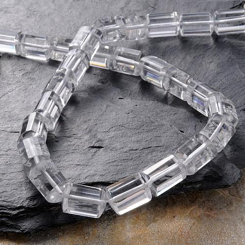 Bergkristall Perlen Facettetierte Walze 15/11mm/40cm