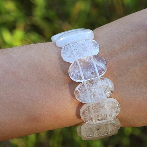 Bergkristall Armband Oval