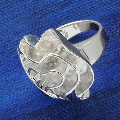 Silver Ring Rose big