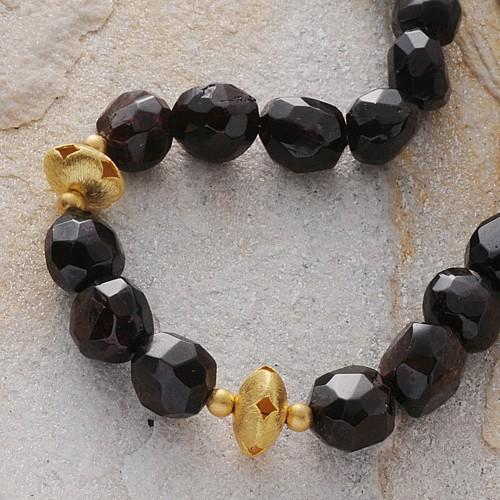 Halskette Granat facettiert
