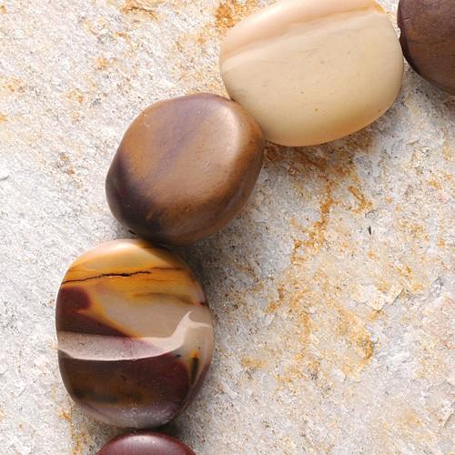 Mookait Perlen Disc Getrommelt 30x20x10mm