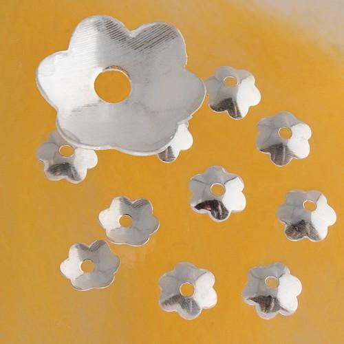 Bead Caps Flower Silber 925 10 Stück