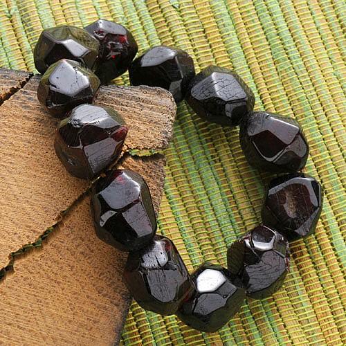 Granat Armband Nugget facettiert Granatarmband