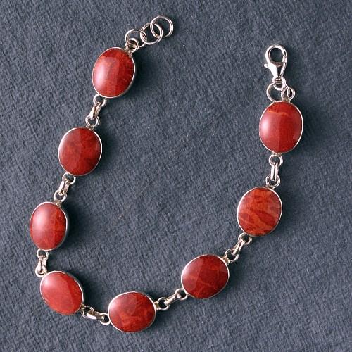 Koralle Silber Armband 2