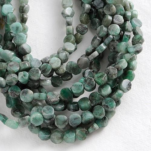 Halskette Smaragd Disc