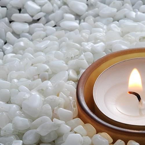 Edelsteine Weiße kleine Edelsteine 200Gr Schneequarz aus Indien Bastelsteine Mini 4-10mm