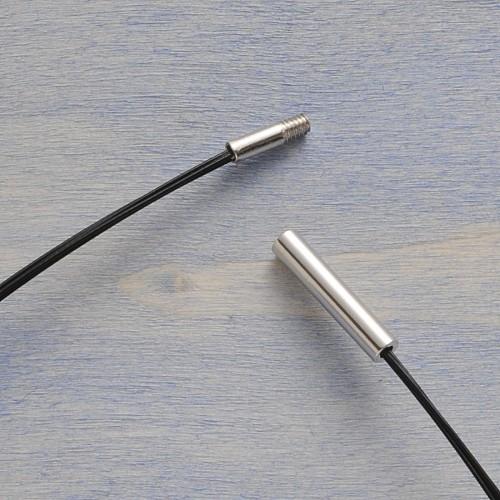 Halsreif schwarz 45cm 1,9mm