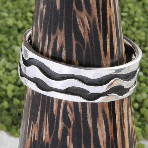 Silver Ring Twin Line