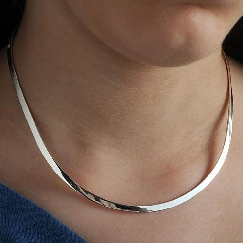 Silber Halsreif 5mm