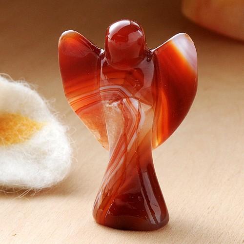 Engel Figur Karneol 50mm