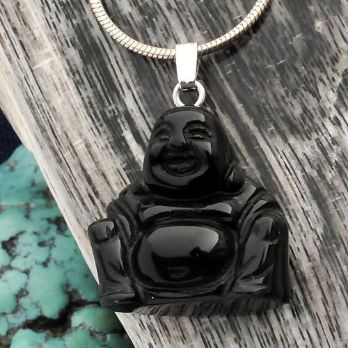 Stein Buddha Onyx Anhänger
