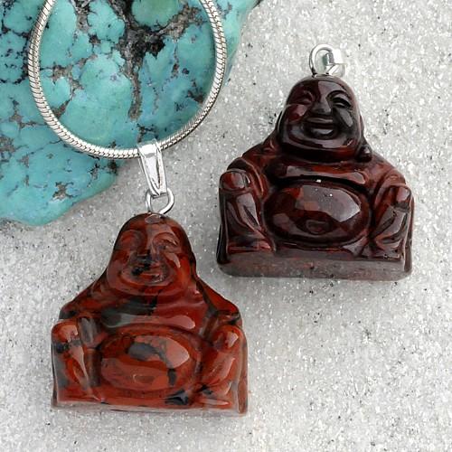 Jaspis Steinfigur Buddha Hänger