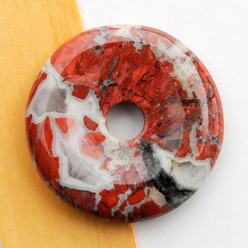 Jaspis Rot Donut Brekzien Scheibe 30mm