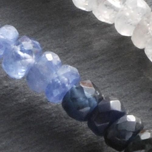 Saphir Halskette blau facettiert
