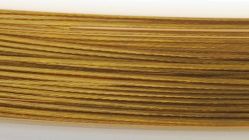 Juwelierdraht 49Strang, goldfarben 0,35 mm, 10er