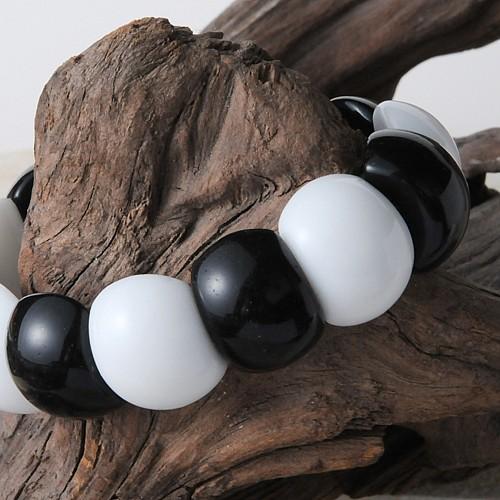 Onyx Weiß Armband schwarz weiß Beatle 20x11