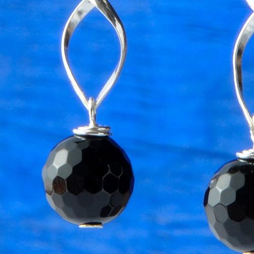 Onyx Ohrringe Silber Spirelli