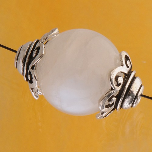 Bead Caps Silver 925
