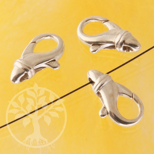 Schwerer Silberverschluss für Ketten