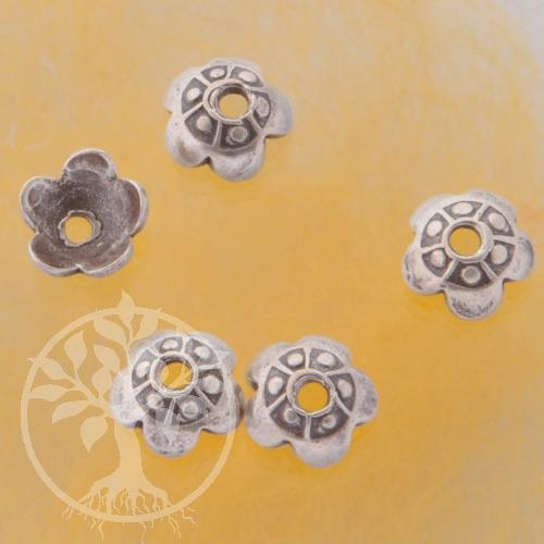 Silver Bead Caps Silver 925 Beadcap Cinesse Wall 4pcs