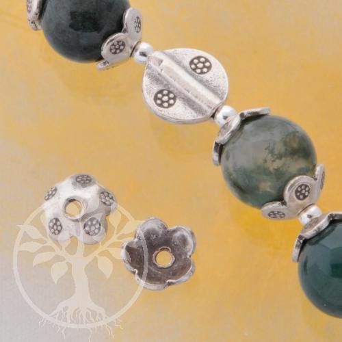Perlenkappen Silber 7monkeys