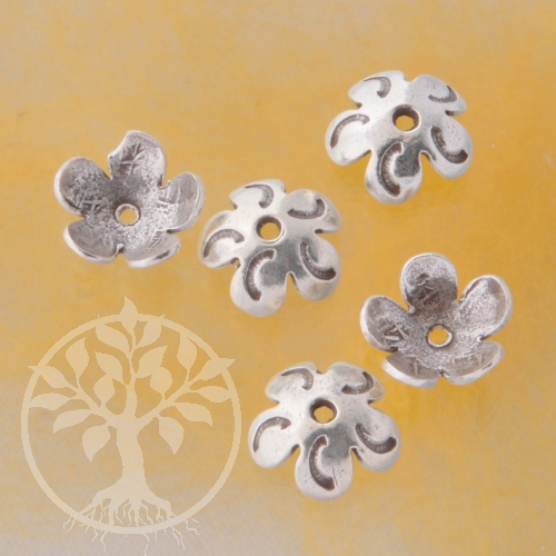 Perlenkappen Silber